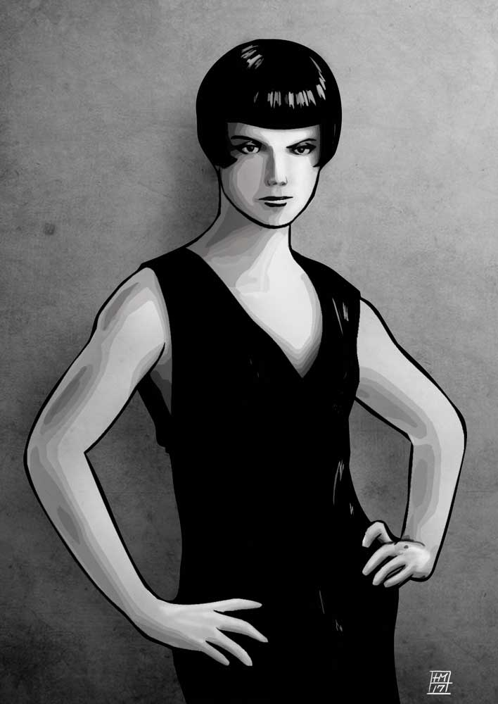 tegning illustrationer Louise Brooks