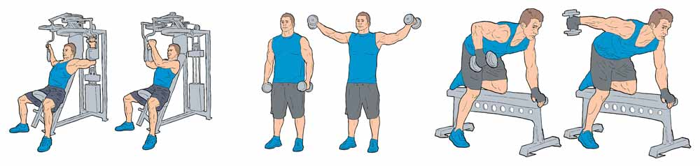 flere illustrationer til fitness app