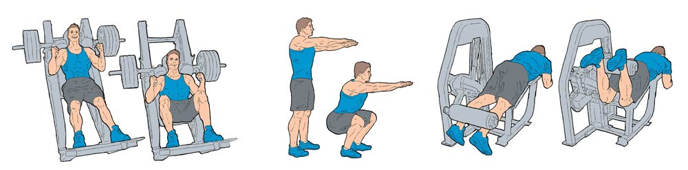 illustrationer til Fitness Firend