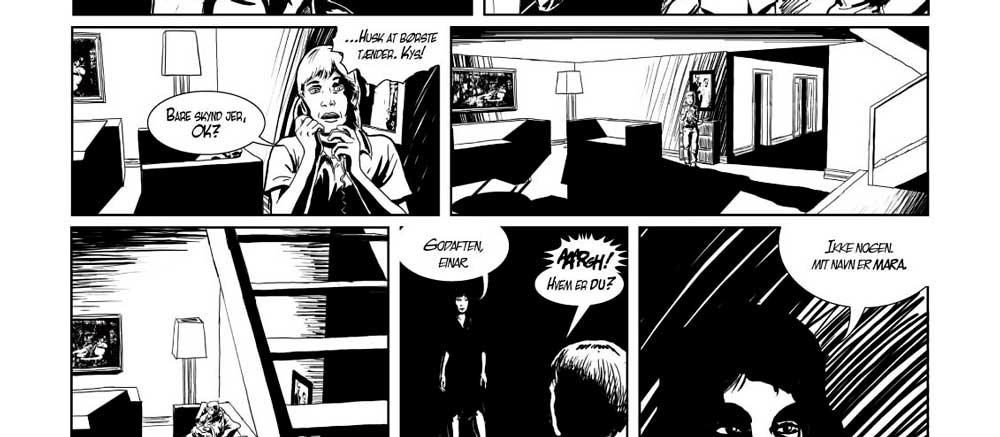 tegneserie. Einar og Mara