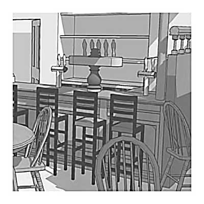 3D model irsk pub